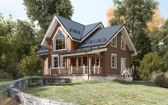 Строительство деревянных домов: проектирование коттеджей: из дерева, кирпича и газосиликата в Воронеже - Ekodrom.ru