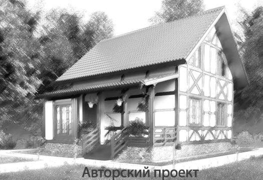 Авторский проект 4719Авторский проект дачные каркасные дома