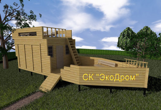 ПРОЕКТ БАНИ ИЗ БРУСА Э8-109